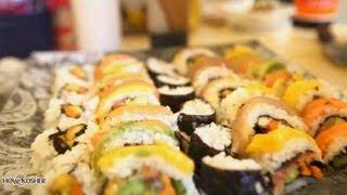 How To Make Homemade Kosher Sushi [HD] | איך להכין סושי כשר ביתי