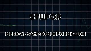 Stupor (Medical Symptom) ערפול הכרה
