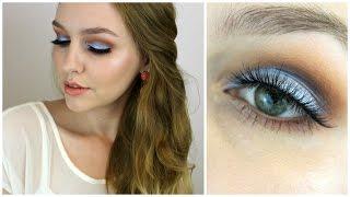 מדריך איפור עם עיניים צבעוניות - כתום ותכלת | איפורומניה