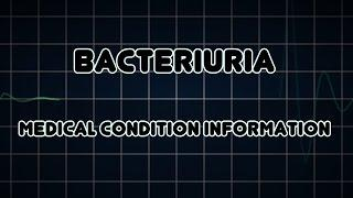 Bacteriuria (Medical Condition) בקטריוריה