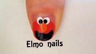 מדריך לק לציפורניים קצרות- אלמו Elmo's Short Nails Design