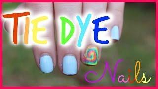 לק צבעוני לקיץ ✺ Tie Dye Nails