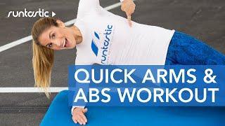 7 דקות אימון שרירי בטן וזרועות