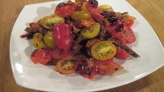 סלט סוגי עגבניות של שף שאול בן אדרת וקובי אריאלי - מתכונים לשבת