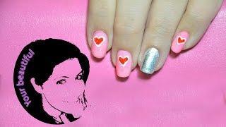 עיצוב ציפורניים לבבות Nail Art Hearts