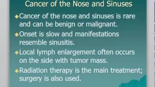 Nasal Polyps, Cancer Of The Nose And Sinuses, Facial Trauma גידולים באף