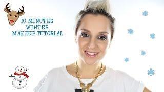 10 Minutes Winter Makeup איפור חורף בעשר דקות