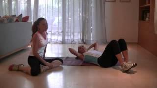 אימון בטן עם מיכל צפיר ועינת סולטן