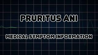 Pruritus Ani (Medical Symptom) גרד בפי הטבעת