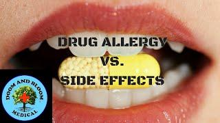 Drug Allergy Vs Side Effect: How To Know אלרגיה לתרופות