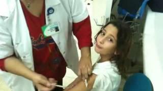חיסון נגד שפעת החזירים   Painless Influenza Vaccine Part 1