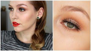 מדריך איפור עם עיניים חמות ונגיעת שימר קריר | איפורומניה