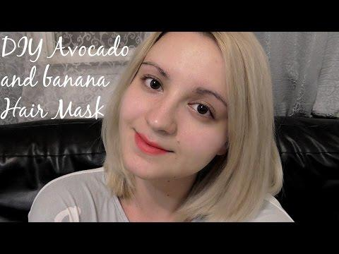 מסכה טבעית לשיער - DIY Avocado And Banana Hair Mask|ליזוש
