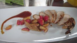 חזה עוף בזיגוג סויה וסנוניות של צ'רלי פדידה מתוך 'אלופים במטבח'
