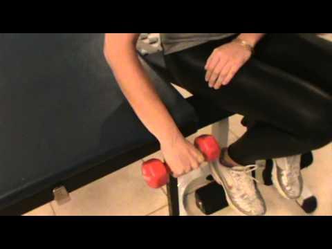 תרגיל פיזיותרפיה לשרירי מרפק- TENNIS ELBOW