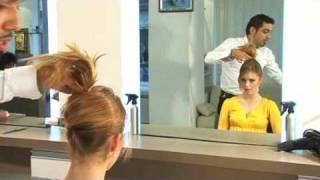 עיצוב שיער-תסרוקת פשוטה שניתן לעצב לבד בבית