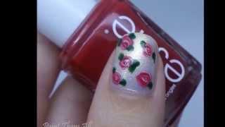 קישוט ציפורניים פרחוני || Floral Nails Tutorial