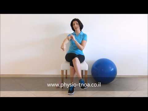 תרגילים  טיפול מרפק טניס : פיזיותרפיה