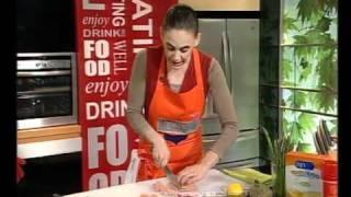 חזה עוף מוקפץ עם ירקות, פסטה ואספרגוס - מטרנה